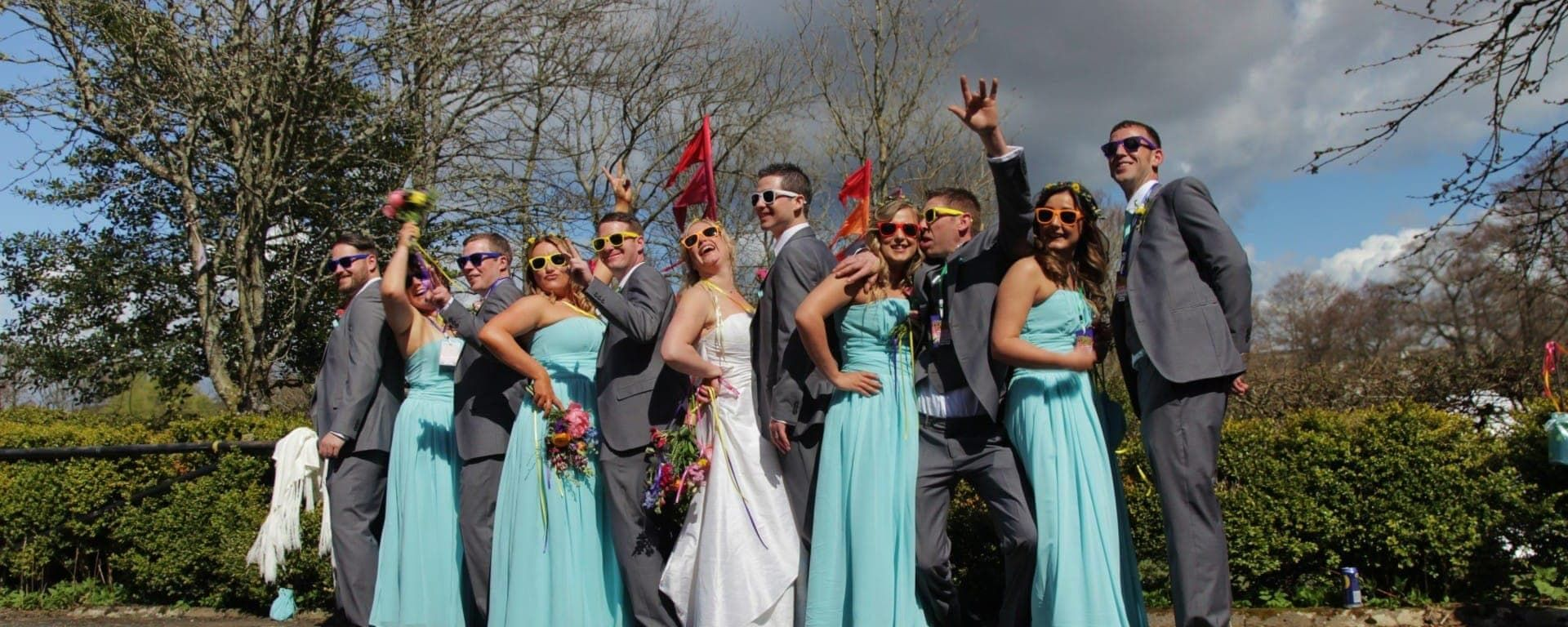 Music Festival Theme for Lake District Wedding